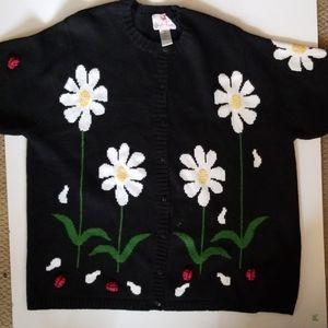 Quacker Factory daisy sweater